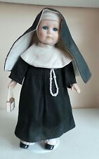 Rare Old Leonardo Colection Sister Mary Porcelain Soft Body Doll Miniature Bible