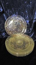 7 Vintage Clear Glass Morning Glory Floral Plates