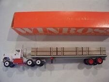 TMT A CROWLEY COMPANY FLATBED WOOD LOAD TRACTOR TRAILER DIECAST WINROSS TRUCK