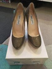 Jimmy Choo Women's Glitter Closed Toe Shoe Sz 37