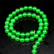 "4mm Natural Green Jade Emerald Round Gems Loose Beads 15""AAA"