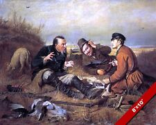 MEN HUNTING DUCK MANLY BIRD STORIES PAINTING FINE ART REAL CANVAS GICLEE PRINT