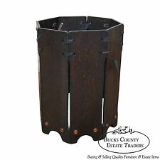 Antique Mission Oak Waste Basket