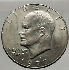 1977  President Eisenhower Apollo 11 Moon Landing Dollar USA Coin Denver  i46211