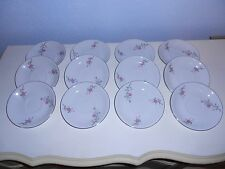 """12 ARLEN FINE CHINA Cathay Flora & Silver Trim 5 3/4"""" Saucers 1476 Japan"""