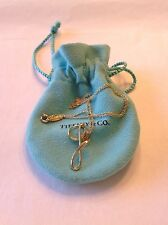 Authentic Tiffany & Co. 18k Yellow Gold Initial G Letter Necklace Pendant