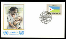 United Nations 1980 Djibouti Flag UNICEF FDC Cover #C11506
