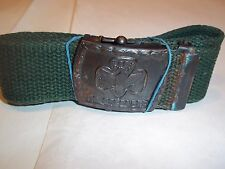GIRL SCOUT BELT AND BUCKLE   VERY OLD 26 INCHES  MAYBE 1920-1939 ERA  GREAT SHAP