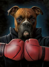 Boxer Dog Lenticular 3D Picture Animal Poster Painting Home Decor Wall Art Decor