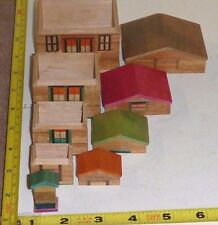 Vtg SET 5-Piece Wood NESTING HOUSES 'Matryoshka' Doll - Japan  TAKE-a-LOOK