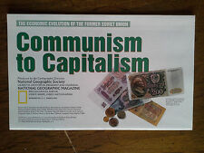 National Geographic Map Soviet Union Russian Communism to Capitalism March 1993