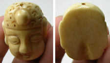 #9 Tibet100%  Natural Bone Hand Carving Buddha Pendant 1 3/8 in or 35.00mm