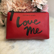 NEW! Victoria's Secret RED Make Up/Cosmetic Bag/Travel Pouch MEDIUM size