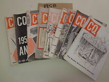 CQ Radio Amateur's Journal Magazines 1958 (9 Issues) Tube Ham Radio