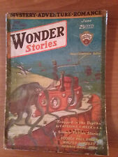 WONDER STORIES Vol 2 N 1 June 1930 ORIGINAL PULP Magazine Science Fiction