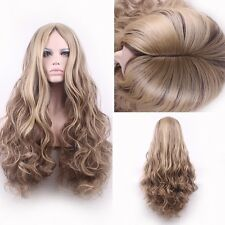 Custom Natural blonde light brown highlights ombre full big thick women hair wig