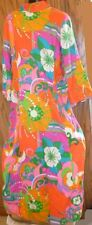 Vintage 60s MOD Saks Fifth Avenue psychedelic abstract colorful neon maxi dress