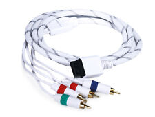6FT Audio Video ED Component Cable for Wii & Wii U - White (Net Jacket)