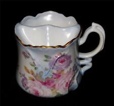 Hand Painted Nippon (Repro)  Shaving or Mustache Mug Bathroom Vanity Blue Pink