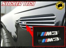 2X RED AND BLUE M3 M TEC SIDE VENT BADGE STICKER TO SUIT BMW E46 2001 - 2006