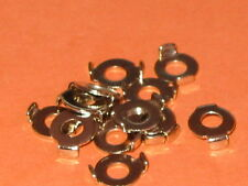 M4  COPPER EARTH CLAMPS NICKEL PLATED  WASHERS  QTY = 10