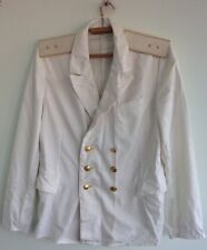 Russian Soviet Navy Jacket naval officer Army Uniform Military USSR white Marine