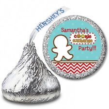 Cookie Exchange - Personalized Christmas Hershey Kiss Stickers-108 Stickers
