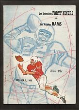 vintage 1960 SAN FRANCISCO 49ERS Los Angeles RAMS Football PROGRAM-Tittle Brodie