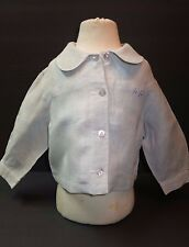 Beautiful Designer FEFE Girls Light Blue Linen Jacket 12 Months ITALY