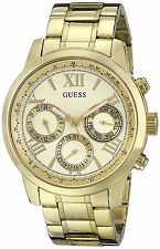 GUESS Women's U0330L1 Sporty Gold-Tone Stainless Steel Watch with Multi-function
