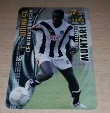 CARD CALCIATORI PANINI 2005-06 UDINESE MUNTARI CALCIO FOOTBALL SOCCER ALBUM