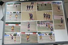 Raro REAL MADRID 2002 Madrid pre temporada fotografías sesión de capacitación X 36