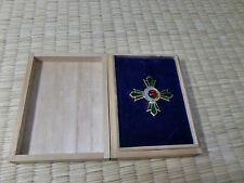 Japanese Green Cross Medal ARMY NAVY BADGE ORDER ANTIQUE A02
