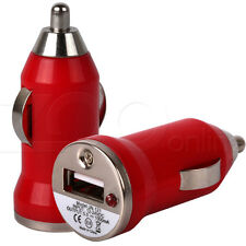 RED COMPACT MINI MICRO USB IN CAR CHARGER ADAPTER FOR APPLE iPHONE 5 5G MOBILE