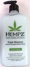 Hempz Triple Moisture Herbal Whipped Moisturizer Lotion Body Creme by Supre