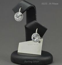 - 925 SILVER  - Earrings made with Swarovski Crystals 10.50 mm RIVOLI  CRYSTAL
