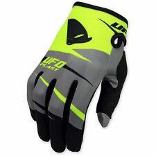UFO 2017 MX Enduro BMX Revolt Gloves - Grey Flou Yellow X Large