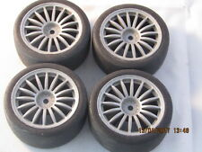 TAMIYA TA03F SET OF 4 SLICK WHEELS AND TIRES FIT TA029(TA01) Vintage 1/10 SCALE