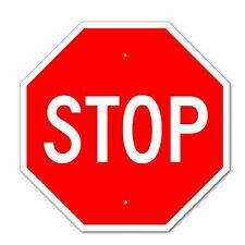"""Stop Sign Aluminum Metal Road Highway Traffic 12X12"""" Street Signs for Sale"""