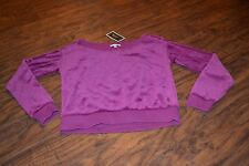 E7- NWT Juicy Couture Magenta Boatneck Pullover Size XS MSRP $98.00