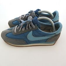 VINTAGE ORIGINAL NIKE 1970's SIZE 5 LOW TOPS 821012 BLUE RUNNING