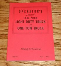 1946 Ford Light Duty and One Ton Truck Owners Manual 46