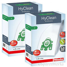 8 x Genuine Miele S7260 S7280 Type U 3D HyClean Vacuum Hoover Bags & Filter Kit