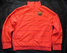 Barca 2008-2009 ZIP Woven Warm-Up Jacket Nike FC Barcelona / Orange /men size L