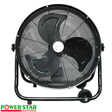 "20"" Industrial High Velocity 240V Rolling Barrel Drum Adjustable Ventilator Fan"