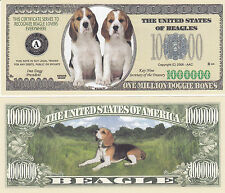 Two Beagle Dogs Puppy Canine K-9 Cute Adorable Novelty Money Bills Lot #243