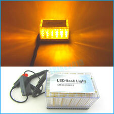 48 LED Amber Car Magnetic Roof Flashing Flash Strobe Emergency Top Light 12V