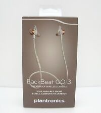 Plantronics BackBeat GO 3 Sweatproof Wireless Earbuds - Copper Grey / Orange Cap