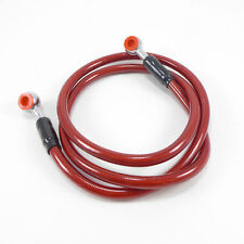 2FastMoto Stainless Extended 39 inch Brake Line Hose Red Motorcycle Honda