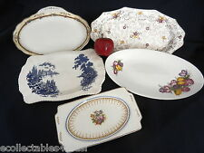 JAMES KENT MARLBOROUGH ROYAL PETAL WOODS IVORY BRISTOL JOHNSON BROS 5  PLATES